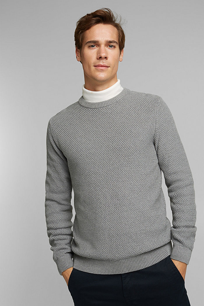 Jumper made of 100% organic cotton, MEDIUM GREY, detail image number 0