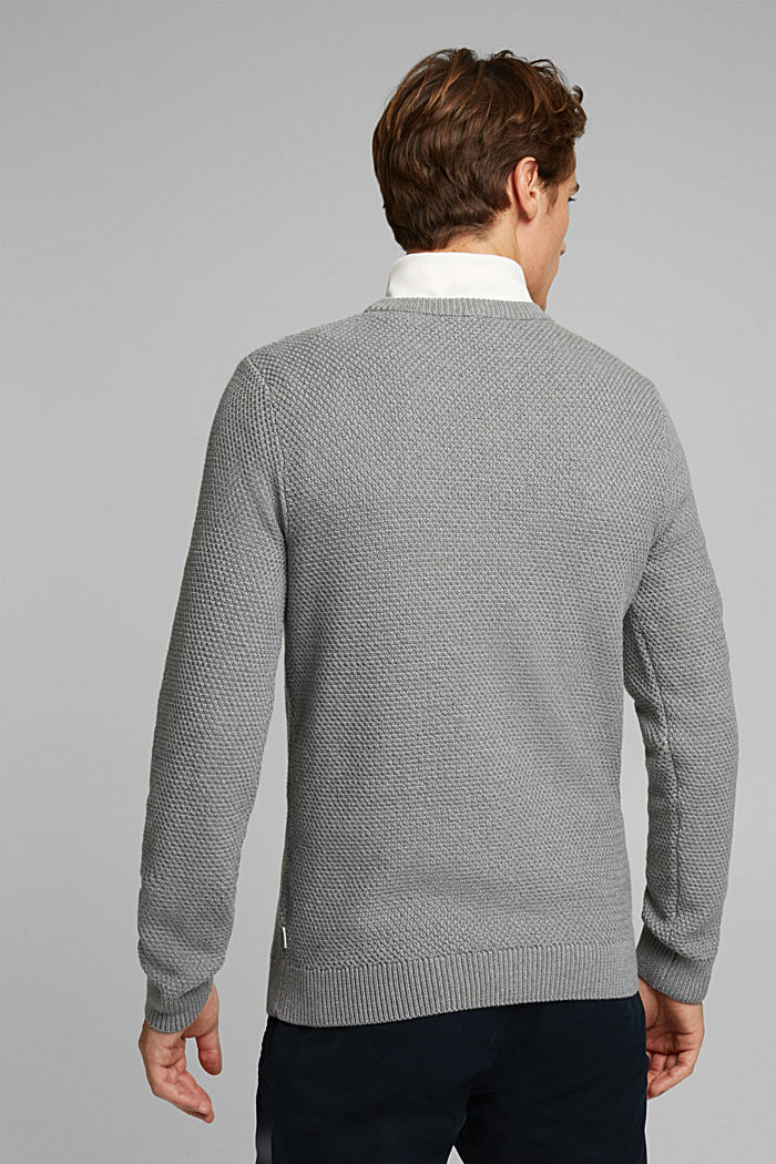 Jumper made of 100% organic cotton, MEDIUM GREY, detail image number 3