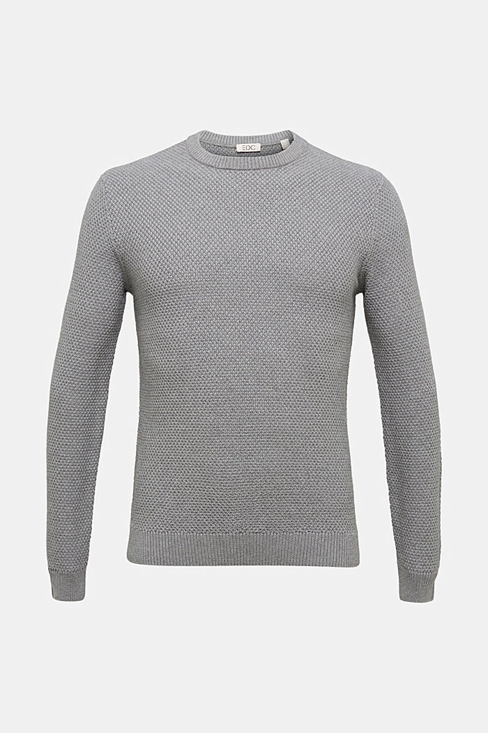 Jumper made of 100% organic cotton, MEDIUM GREY, overview