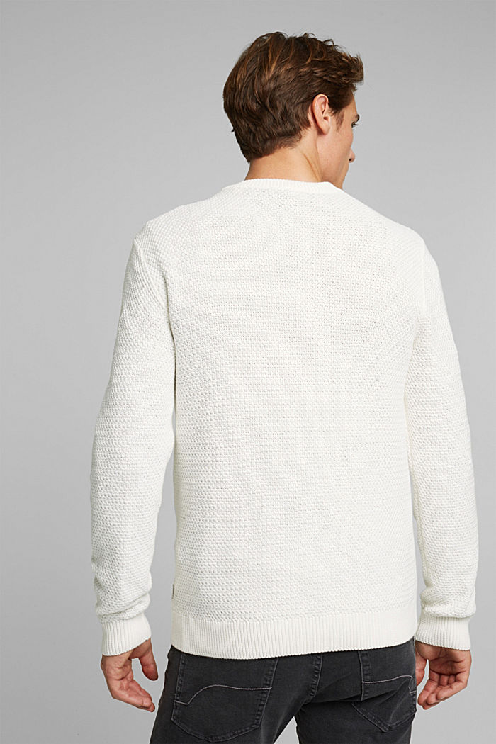 Pullover aus 100% Organic Cotton, OFF WHITE, detail image number 3