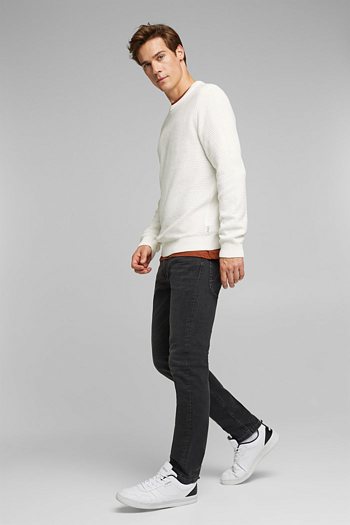 Pullover aus 100% Organic Cotton, OFF WHITE, detail image number 6