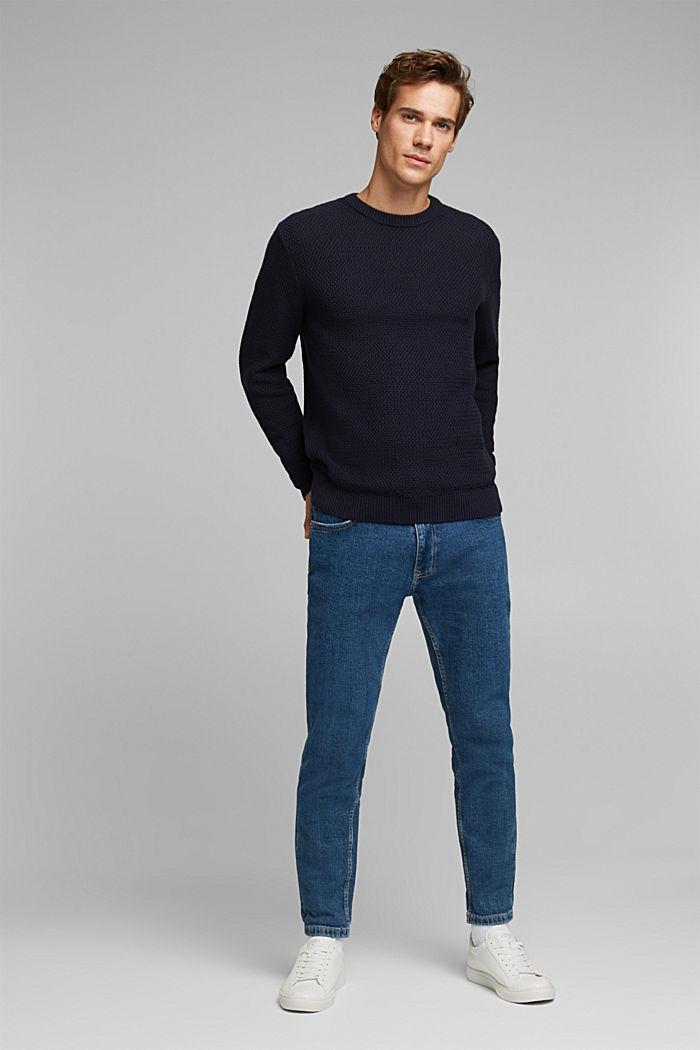 Pullover aus 100% Organic Cotton, NAVY, detail image number 5