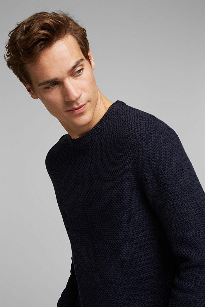 Pullover aus 100% Organic Cotton, NAVY, detail image number 3
