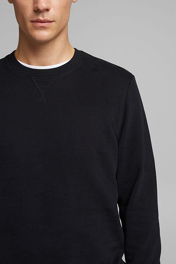 Collegepaita 100 % puuvillaa, BLACK, detail image number 2