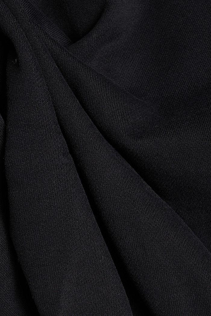 Collegepaita 100 % puuvillaa, BLACK, detail image number 4