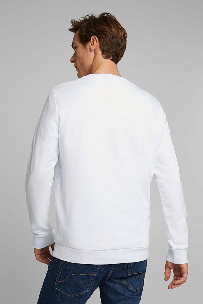 Sweatshirt aus 100% Baumwolle, WHITE, detail image number 3
