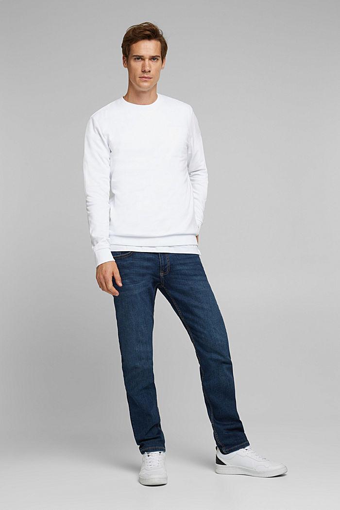 Sweatshirt aus 100% Baumwolle, WHITE, detail image number 1