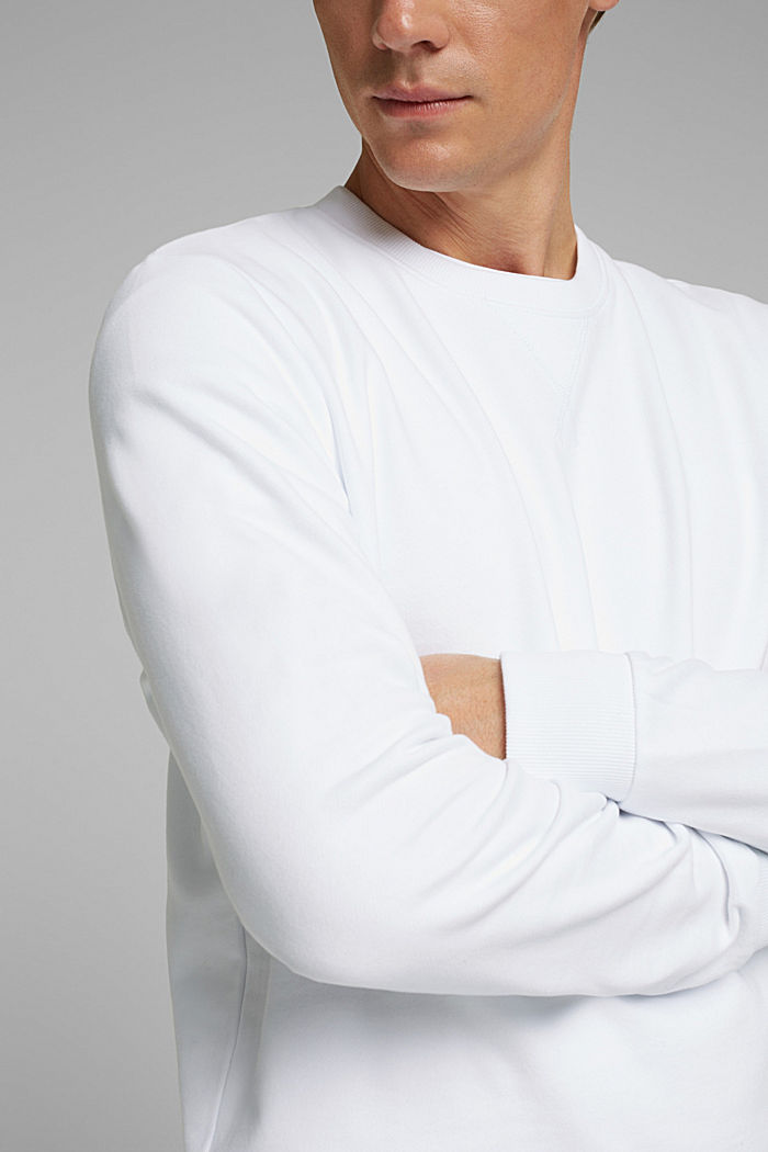 Sweatshirt aus 100% Baumwolle, WHITE, detail image number 2