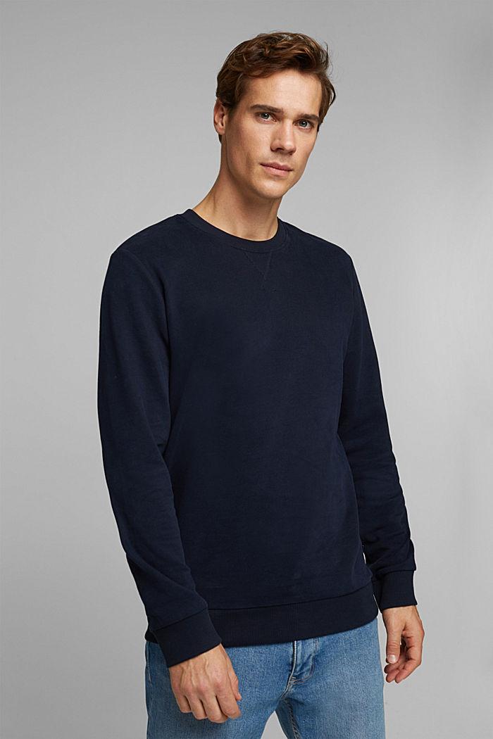 Sweatshirt in 100% cotton, NAVY, detail image number 4