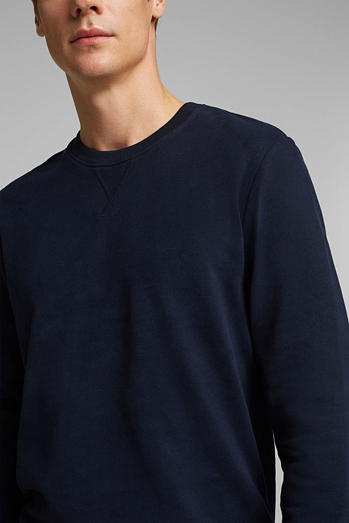 Sweatshirt in 100% cotton, NAVY, detail image number 2