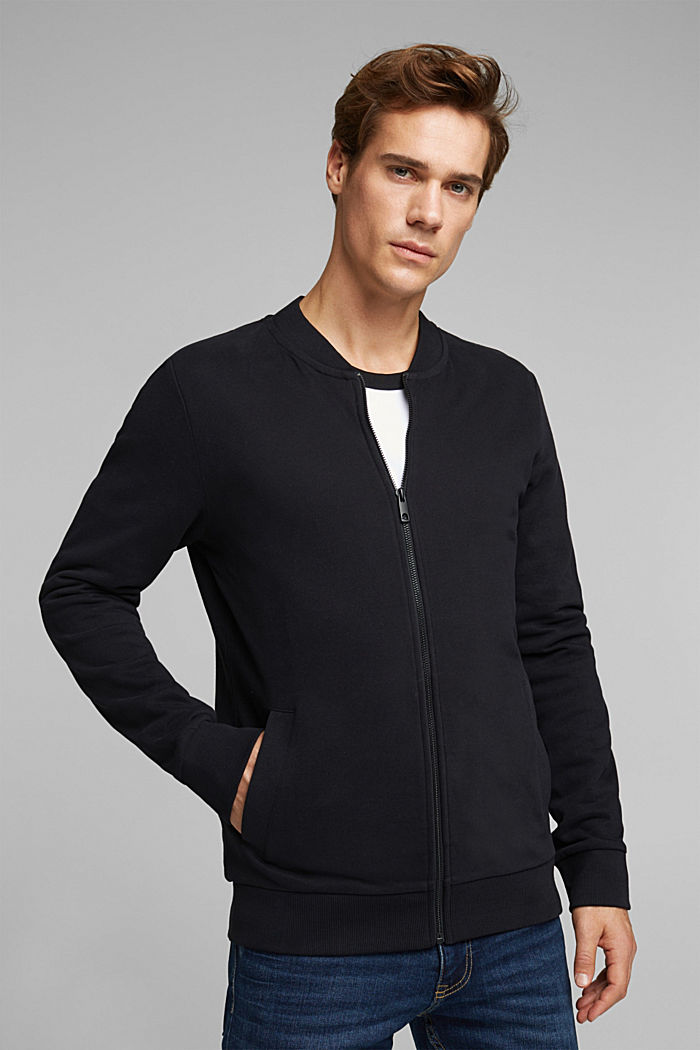 Sweat cardigan with a zip