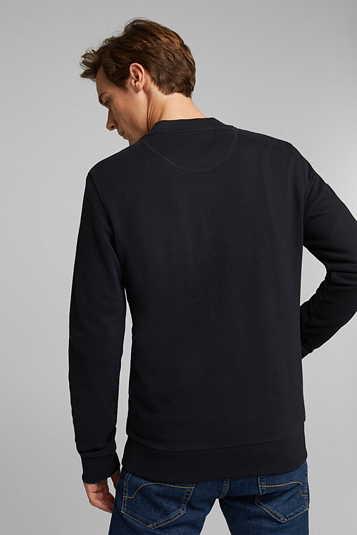 Sweat cardigan with a zip, BLACK, detail image number 3