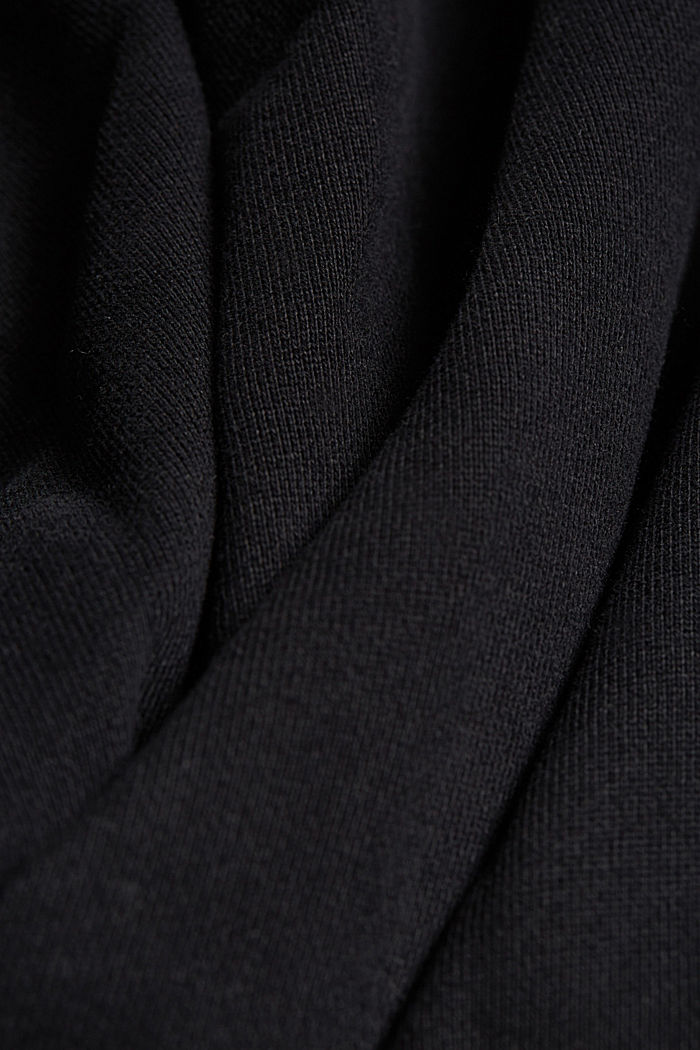 Sweat cardigan with a zip, BLACK, detail image number 5