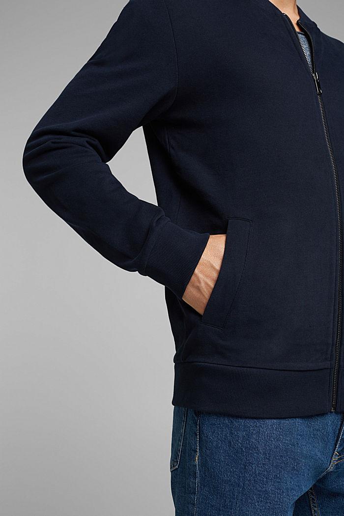 Cardigan molletonné à zip, NAVY, detail image number 2
