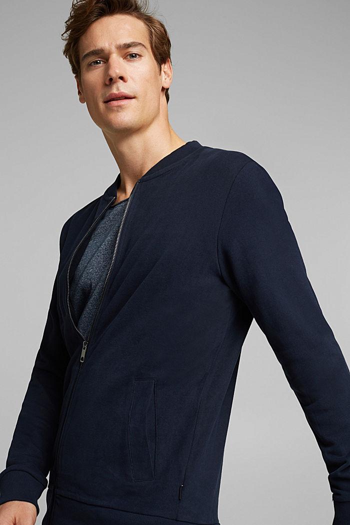 Cardigan molletonné à zip, NAVY, detail image number 5
