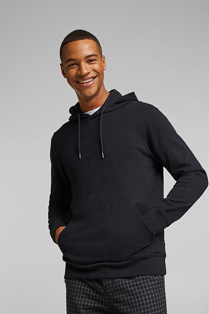 Sudadera de capucha en 100 % algodón, BLACK, detail image number 0