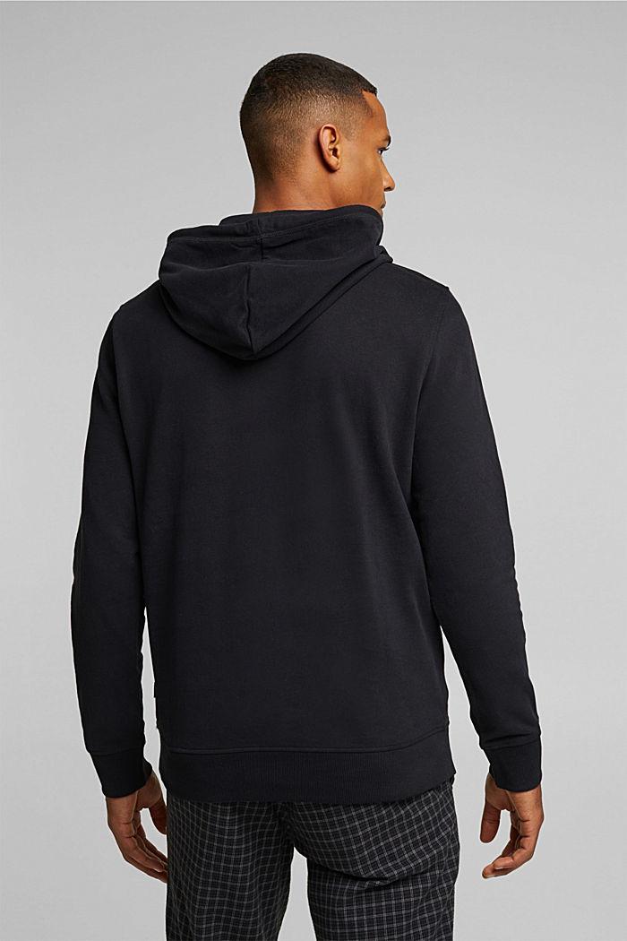 Sudadera de capucha en 100 % algodón, BLACK, detail image number 3