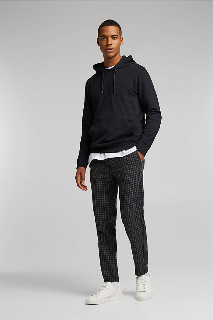 Sudadera de capucha en 100 % algodón, BLACK, detail image number 1