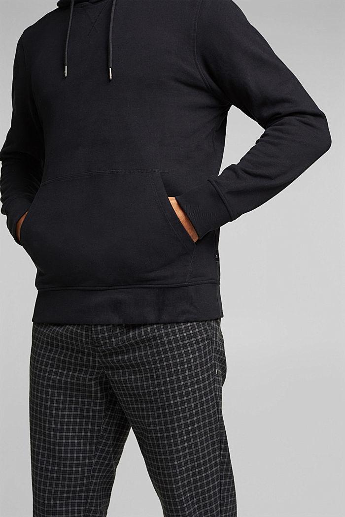 Sudadera de capucha en 100 % algodón, BLACK, detail image number 2