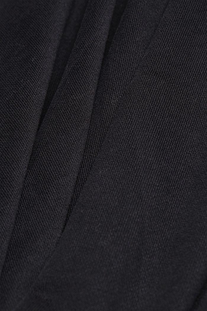 Sudadera de capucha en 100 % algodón, BLACK, detail image number 5