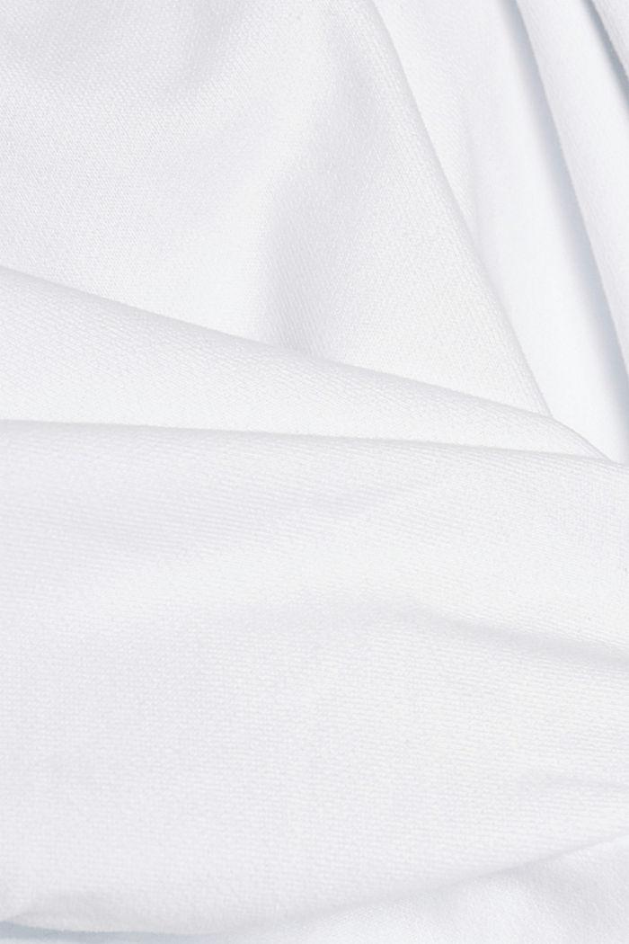 Sweatshirt hoodie in 100% cotton, WHITE, detail image number 5