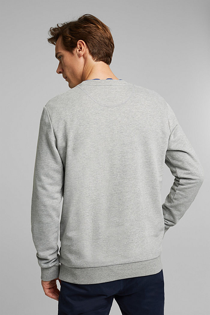 Melange sweatshirt made of 100% cotton, MEDIUM GREY, detail image number 3