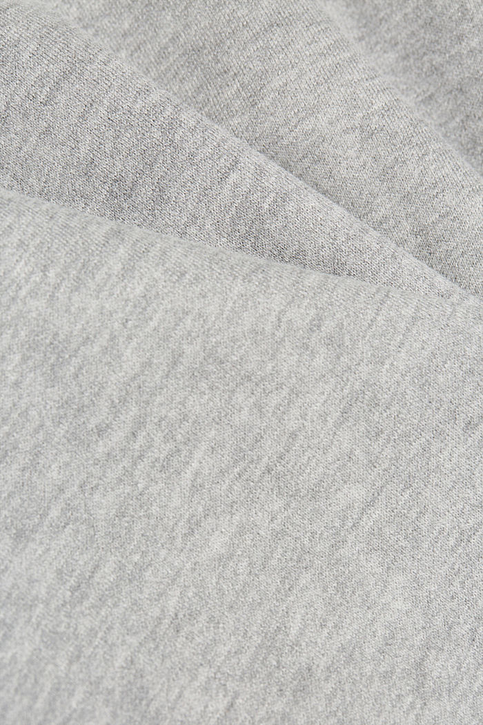 Melange sweatshirt made of 100% cotton, MEDIUM GREY, detail image number 4
