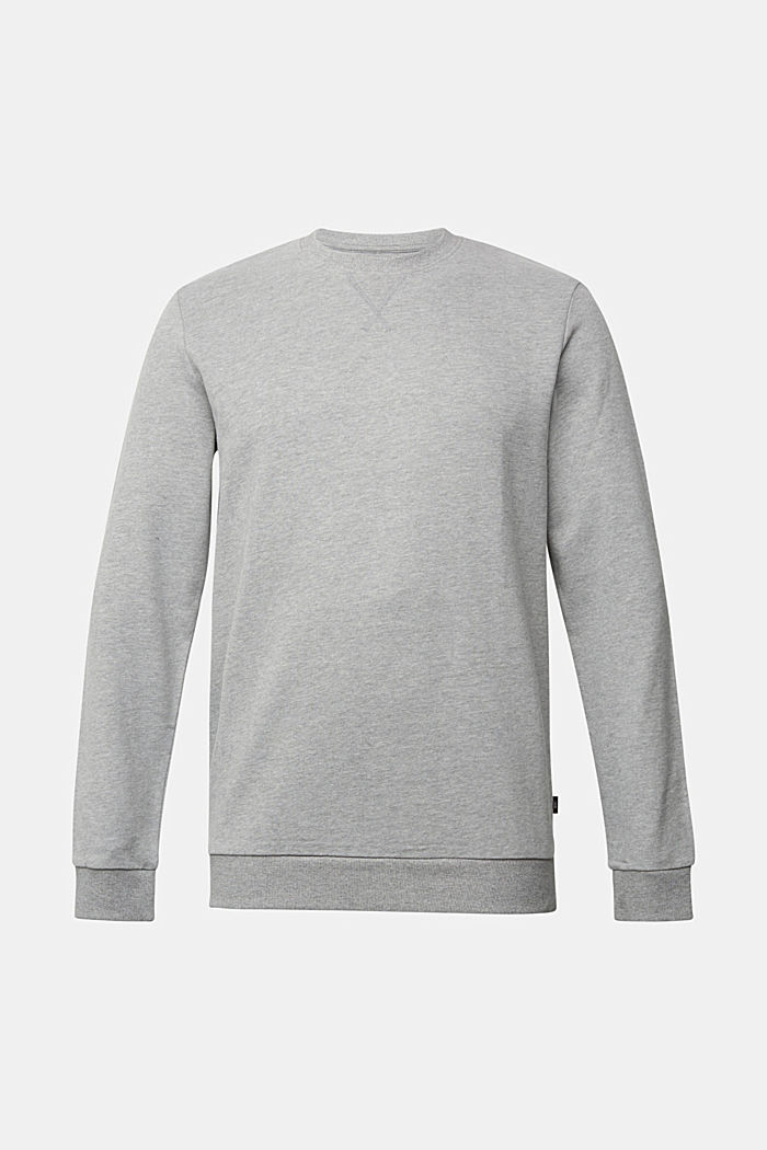 Melange sweatshirt made of 100% cotton, MEDIUM GREY, detail image number 6