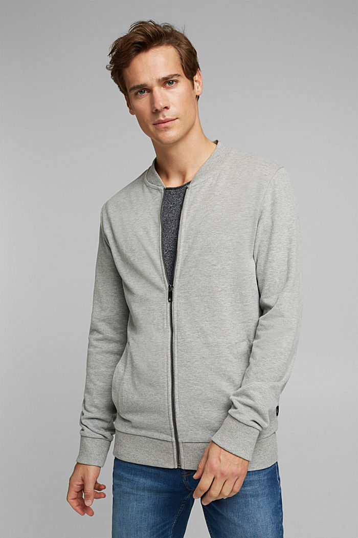 Sweat-Cardigan mit Zipper