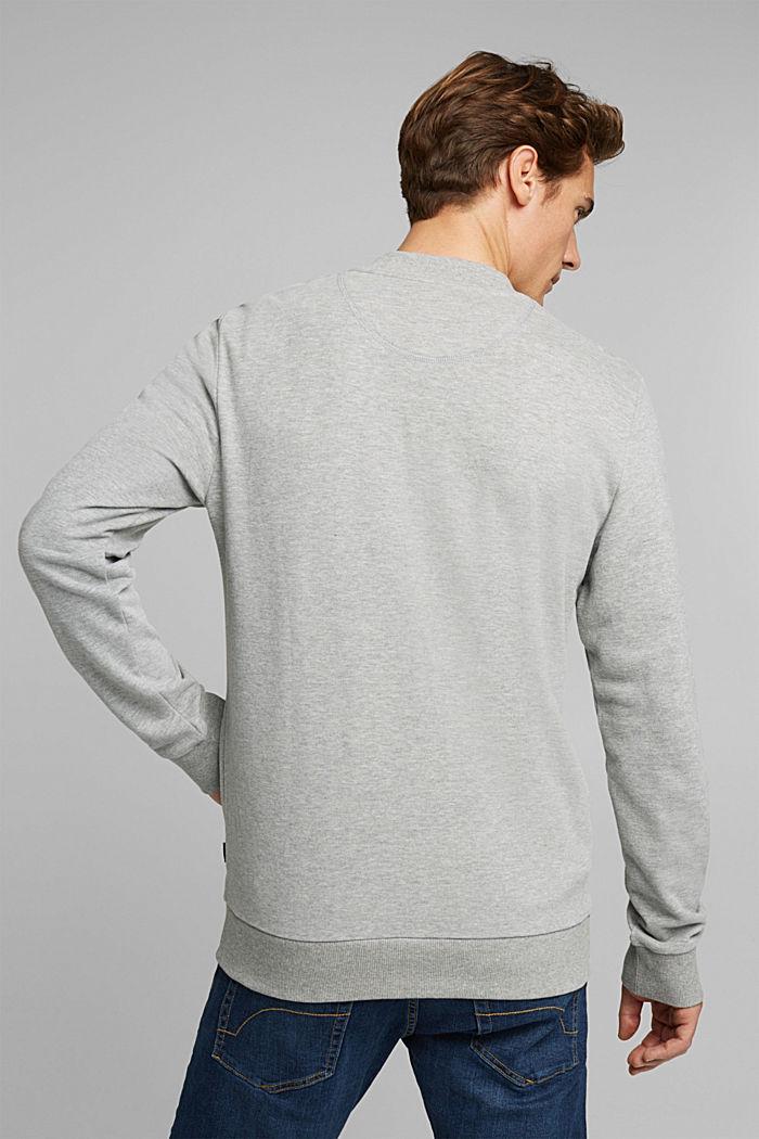Sweat cardigan with a zip, MEDIUM GREY, detail image number 3