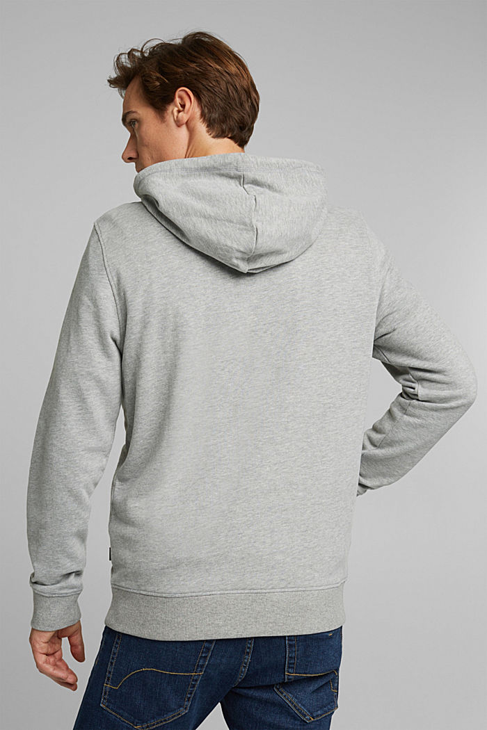 Melange cotton blend hoodie, MEDIUM GREY, detail image number 3
