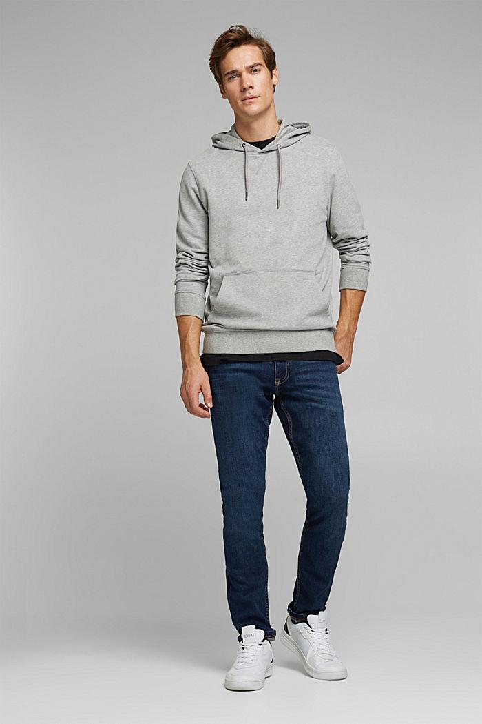Melange cotton blend hoodie, MEDIUM GREY, detail image number 4