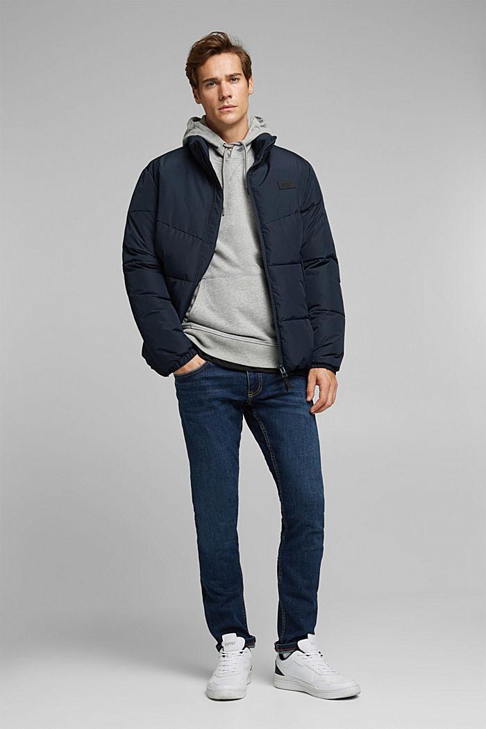 Melange cotton blend hoodie, MEDIUM GREY, detail image number 1