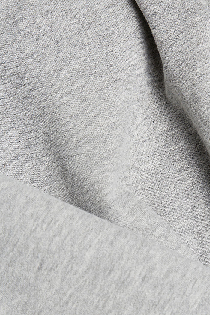 Sudadera jaspeada en mezcla de algodón, MEDIUM GREY, detail image number 5