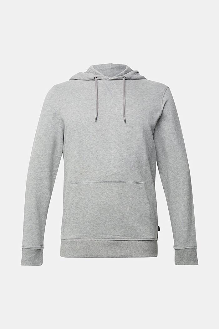 Melange cotton blend hoodie