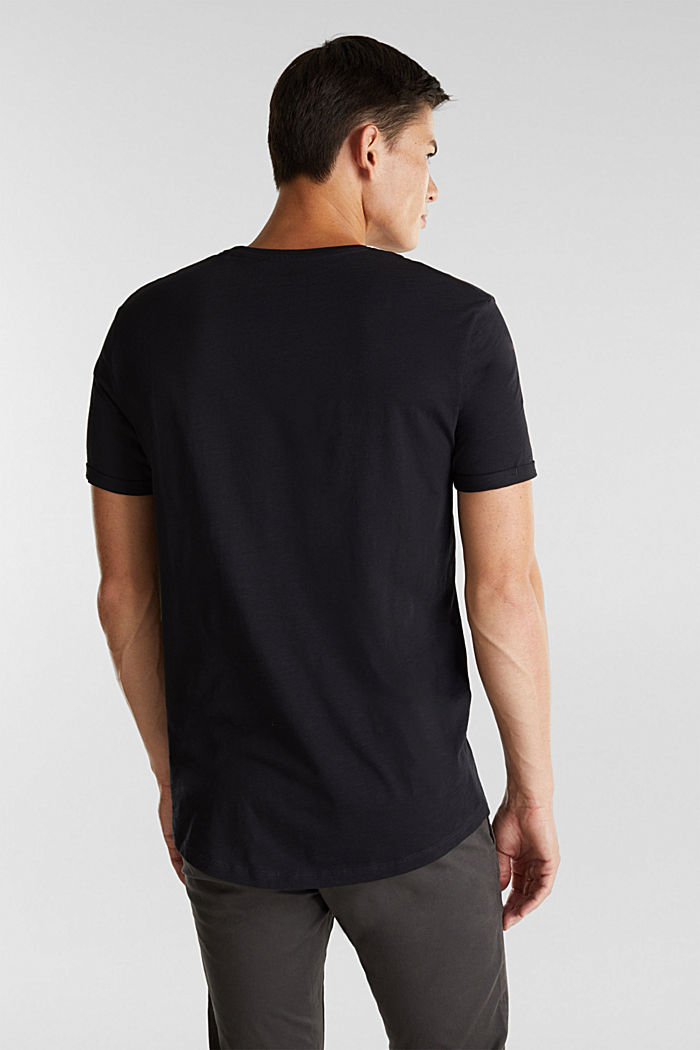 Jersey top made of 100% organic cotton, BLACK, detail image number 3