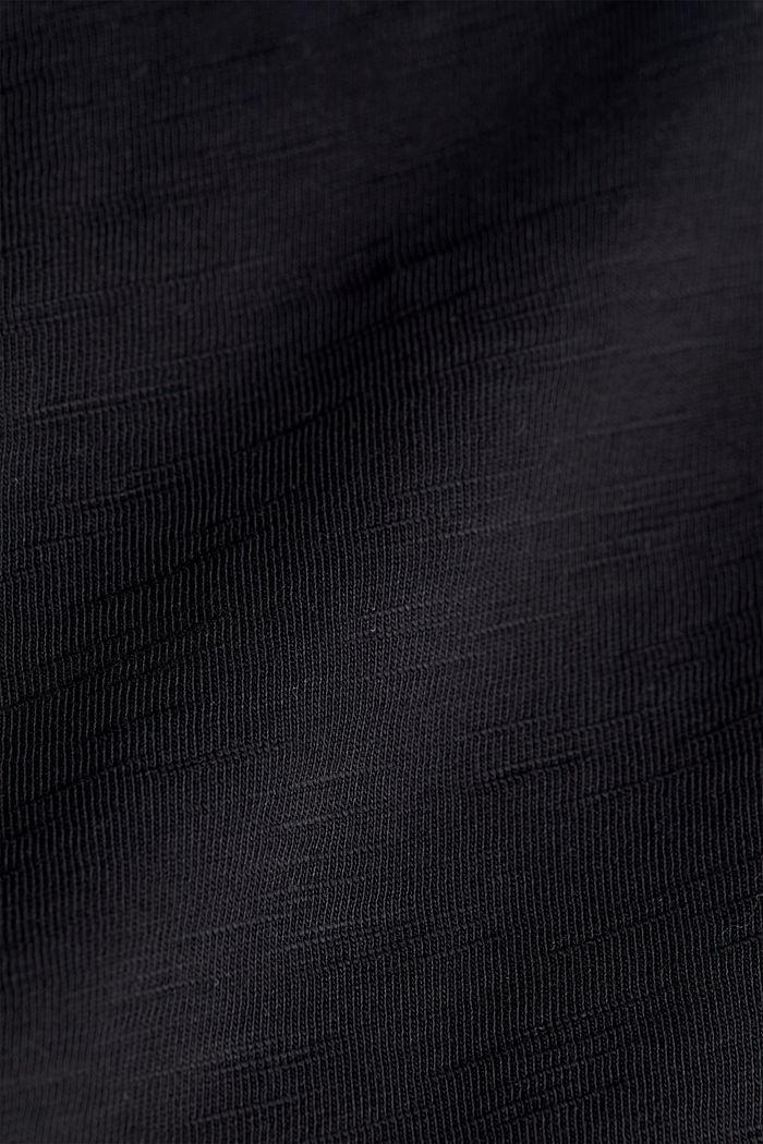 Jersey-Shirt aus 100% Organic Cotton, BLACK, detail image number 4