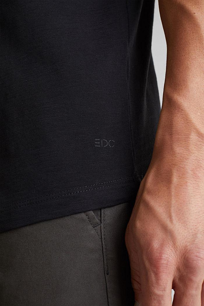 Jersey-Shirt aus 100% Organic Cotton, BLACK, detail image number 5
