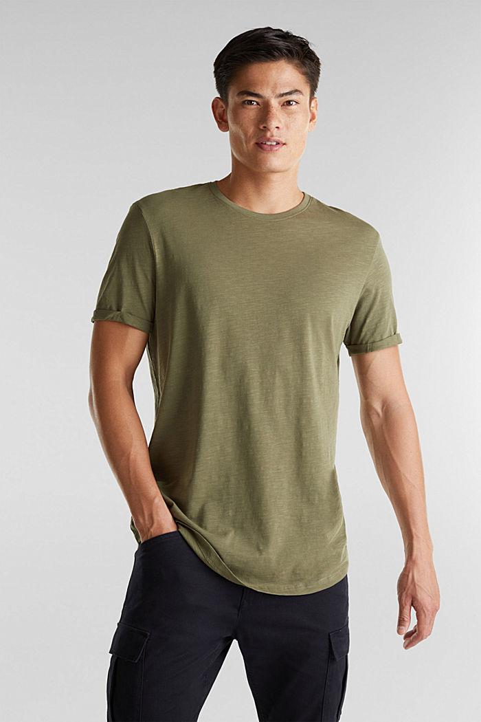 Jersey top made of 100% organic cotton, KHAKI GREEN, detail image number 0