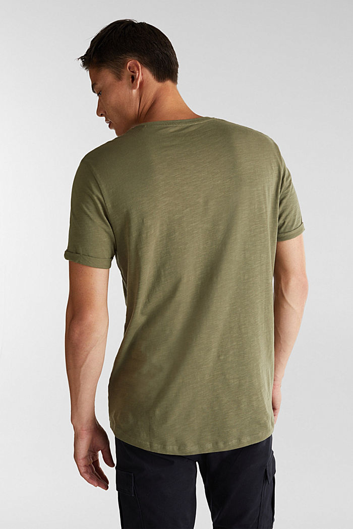 Jersey top made of 100% organic cotton, KHAKI GREEN, detail image number 3