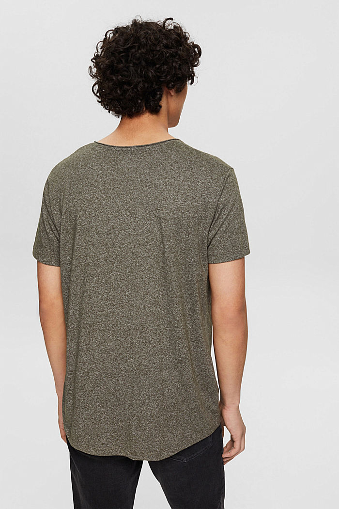 Recycled: T-shirt with organic cotton, OLIVE, detail image number 3
