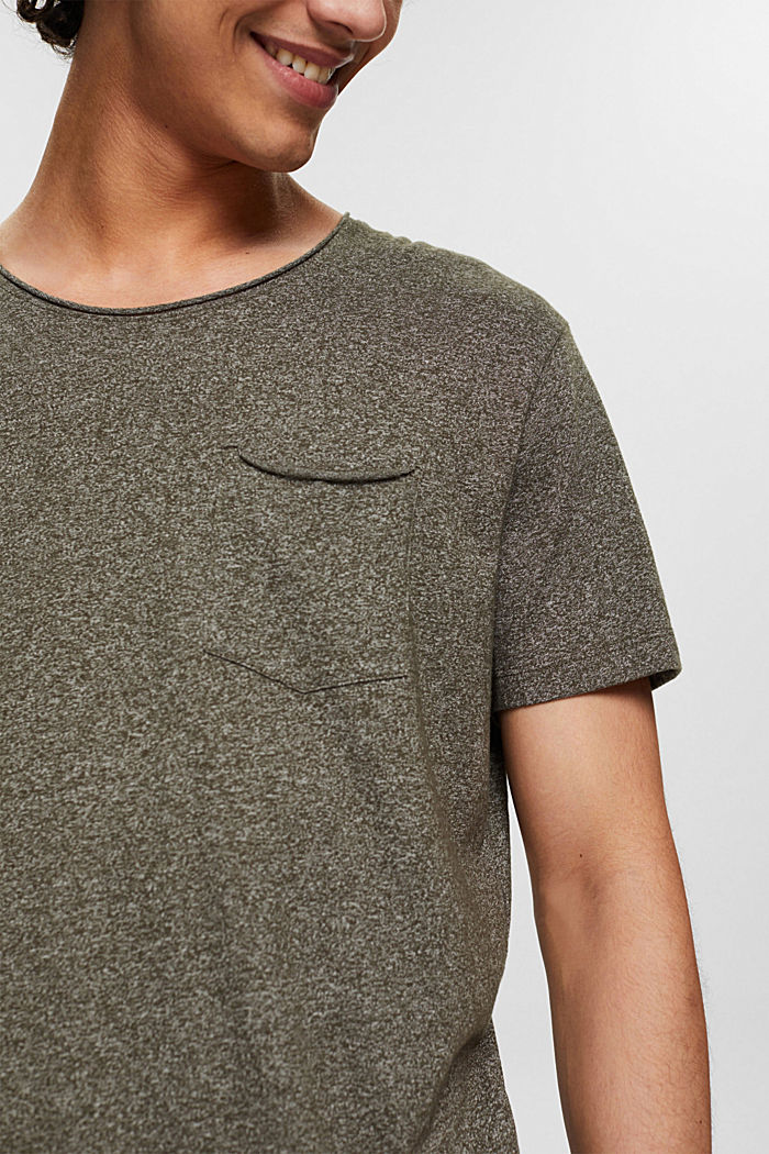 Recycelt: T-Shirt mit Organic Cotton, OLIVE, detail image number 1