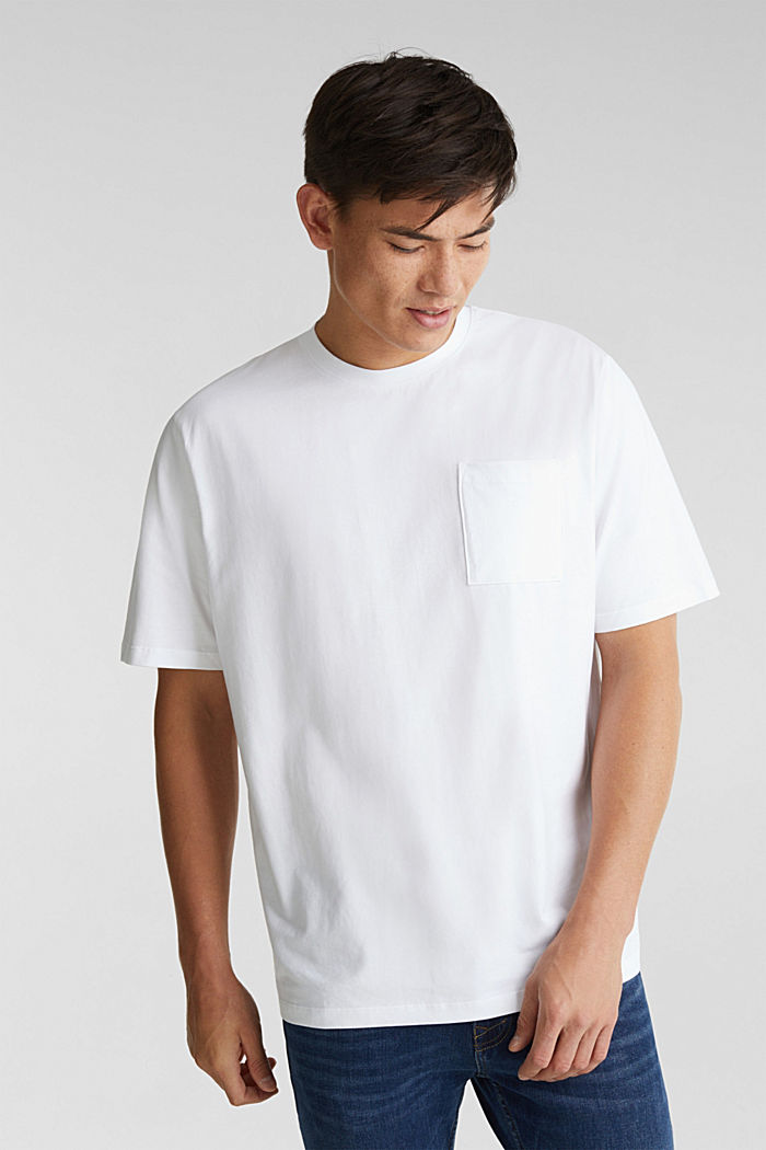 Jersey T-shirt made of 100% organic cotton, WHITE, detail image number 0