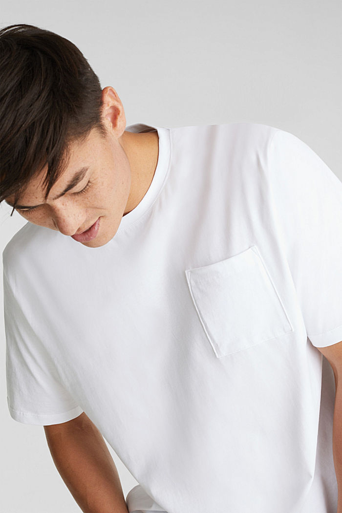 Jersey T-shirt made of 100% organic cotton, WHITE, detail image number 1