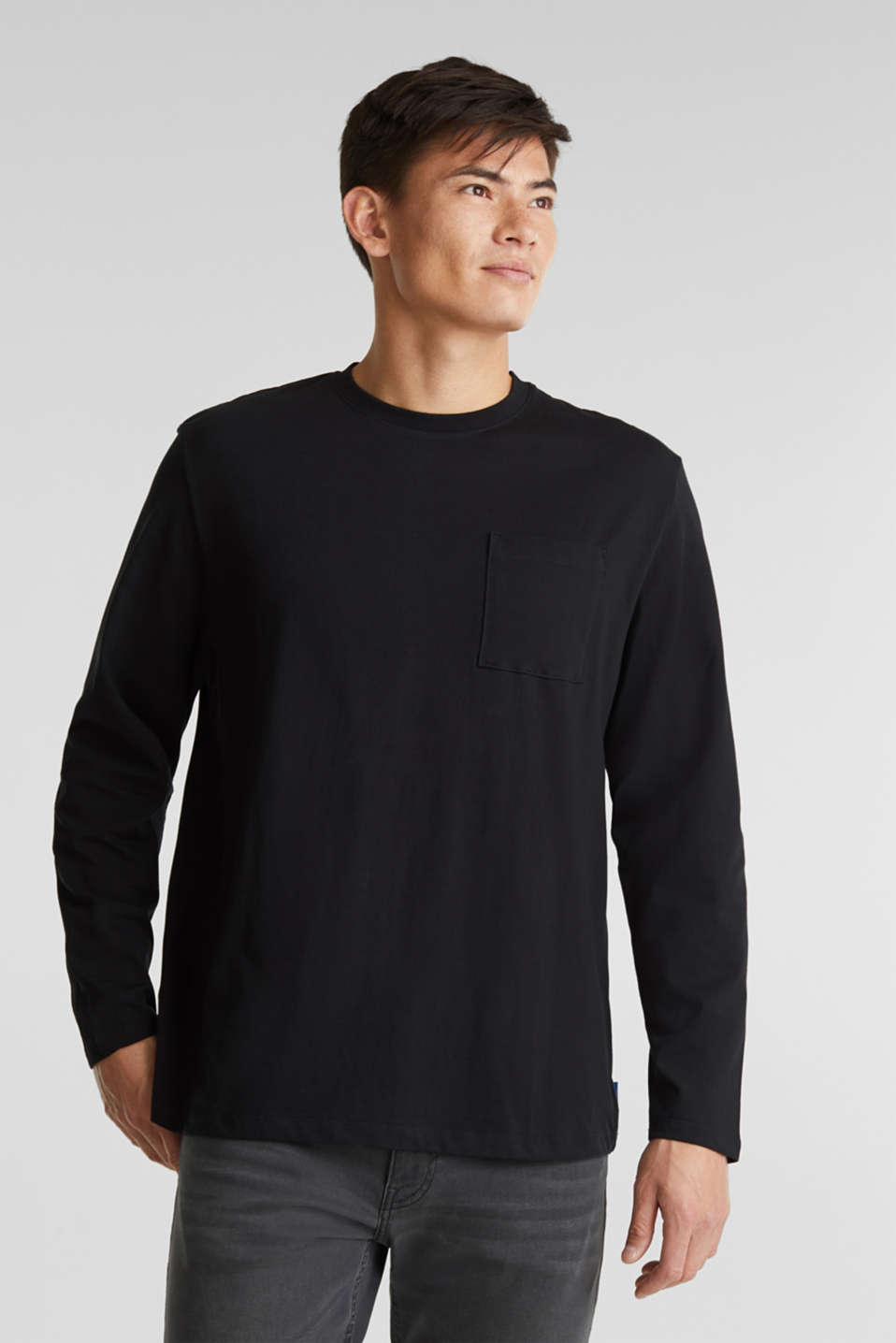edc - Long sleeve top made of 100% organic cotton