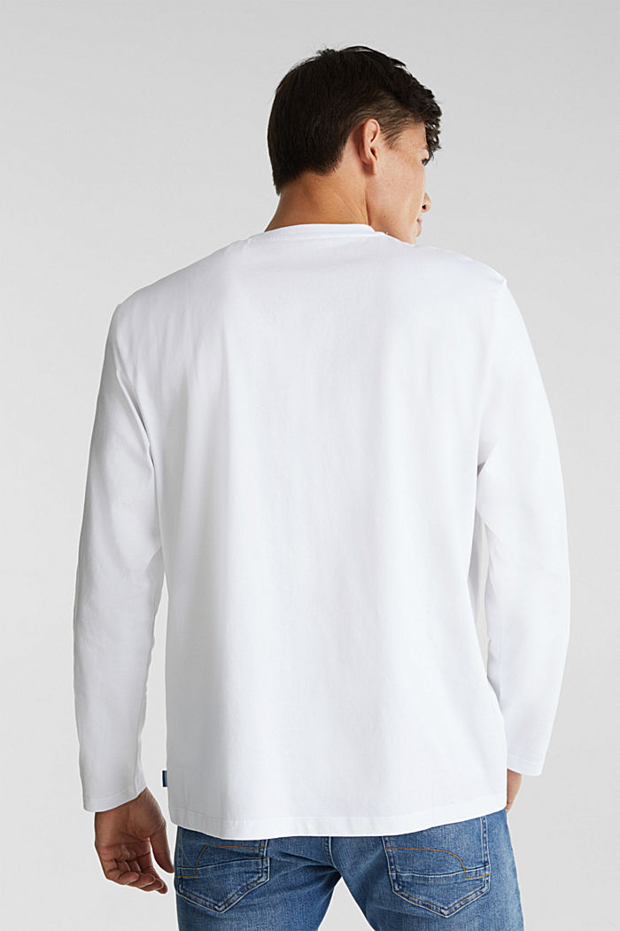 Longsleeve aus 100% Organic Cotton, WHITE, detail image number 3