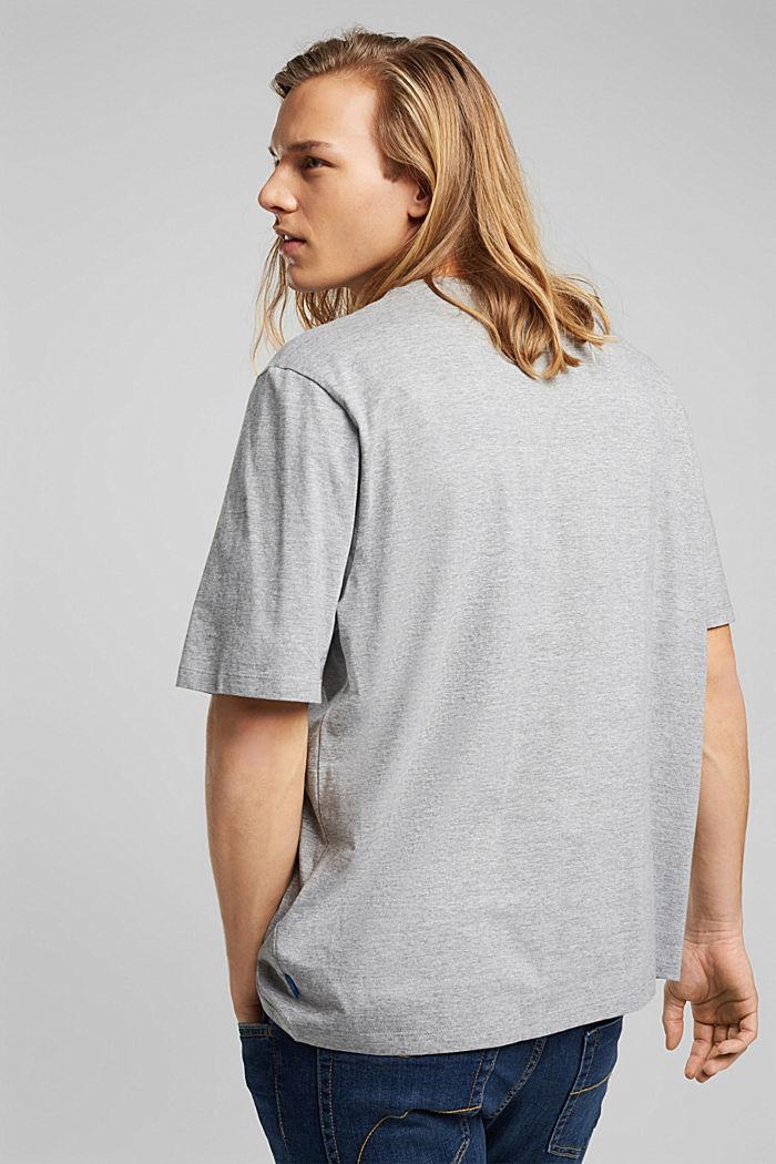 Jersey T-shirt, biologisch katoen/LENZING™ ECOVERO™, MEDIUM GREY, detail image number 3