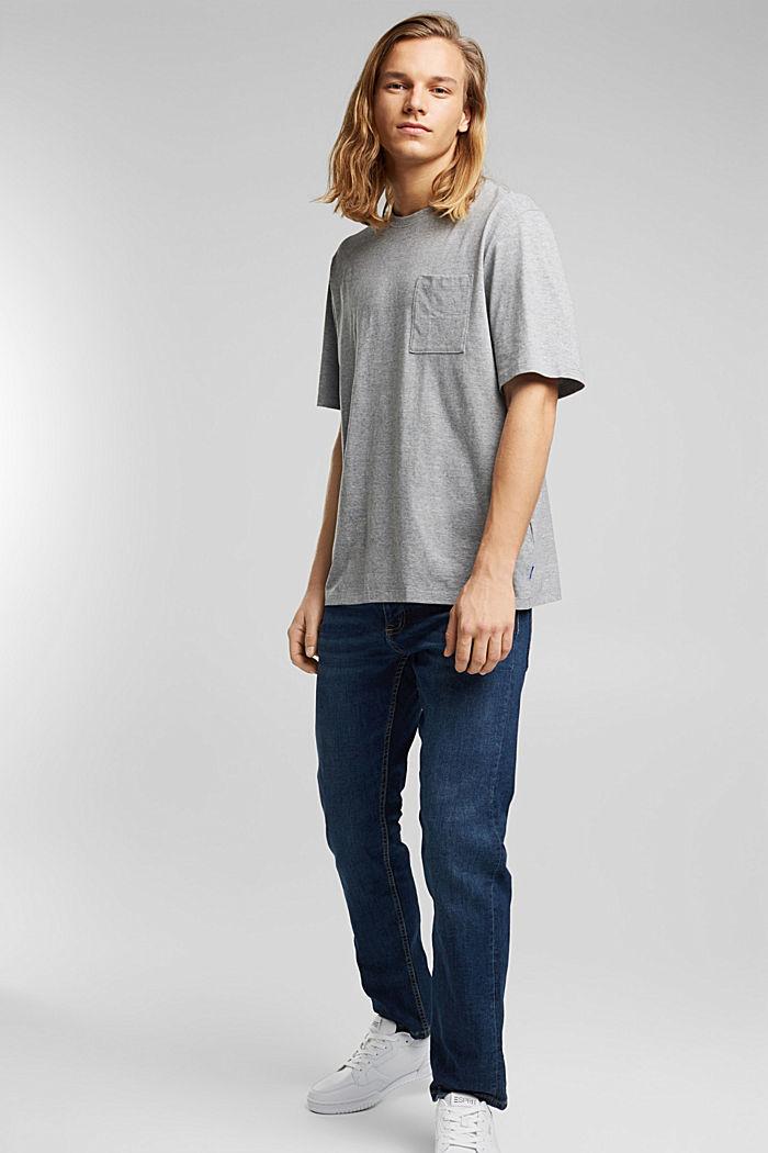 Jersey T-shirt, biologisch katoen/LENZING™ ECOVERO™, MEDIUM GREY, detail image number 5