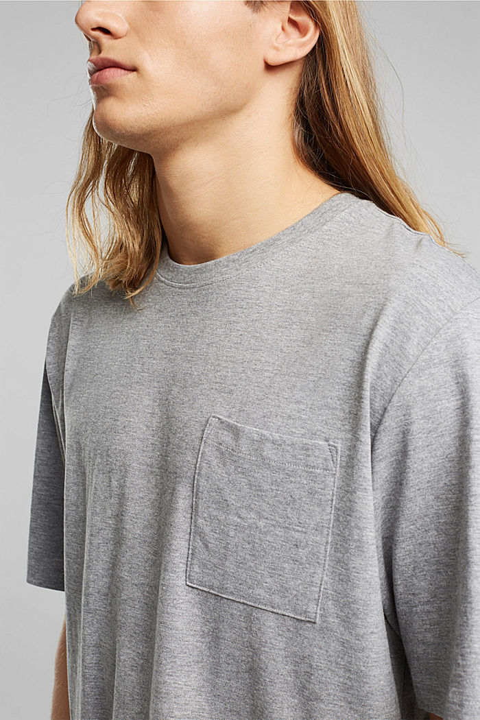Jersey T-shirt, biologisch katoen/LENZING™ ECOVERO™, MEDIUM GREY, detail image number 1