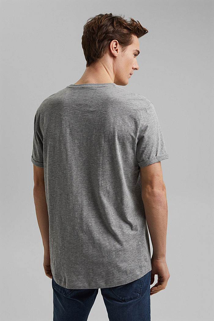 Jersey T-shirt, organic cotton/LENZING™ ECOVERO™, MEDIUM GREY, detail image number 3